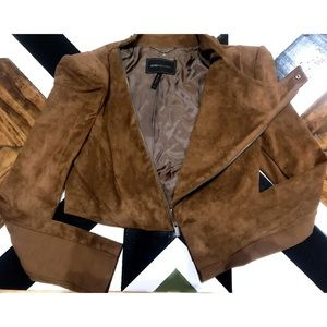BCBG MAXAZRIA Suede Jacket.